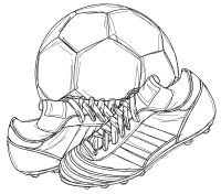 200x176 Drawn Boots Football