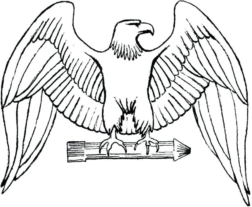 863x712 Eagle Drawing For Kids Coloring Pages Eagles Football Logo Bald