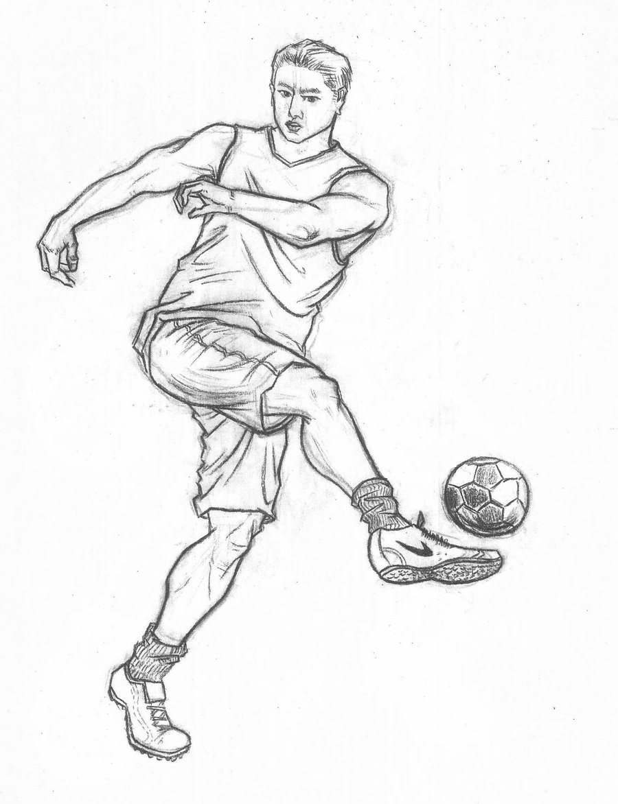 900x1172 Fast Sketch Of Sports Movements Football By Thb886