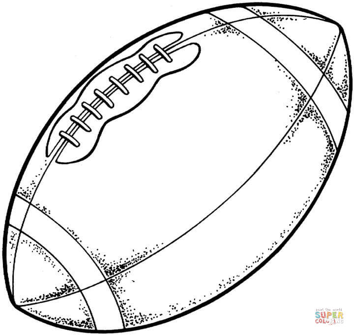 Football Drawing Image at GetDrawings.com | Free for personal use ...