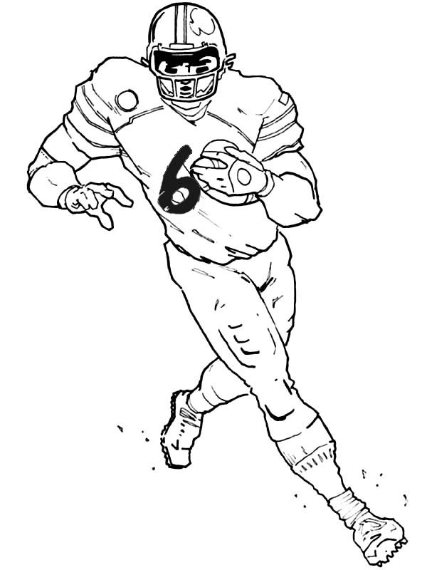 600x800 Football Player Coloring Pages