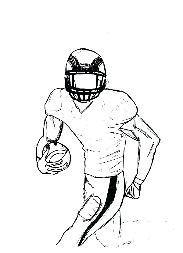 600x826 Nfl Football Player Coloring Pages