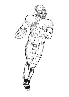 236x332 How To Draw Football Players Football Player Coloring Pages
