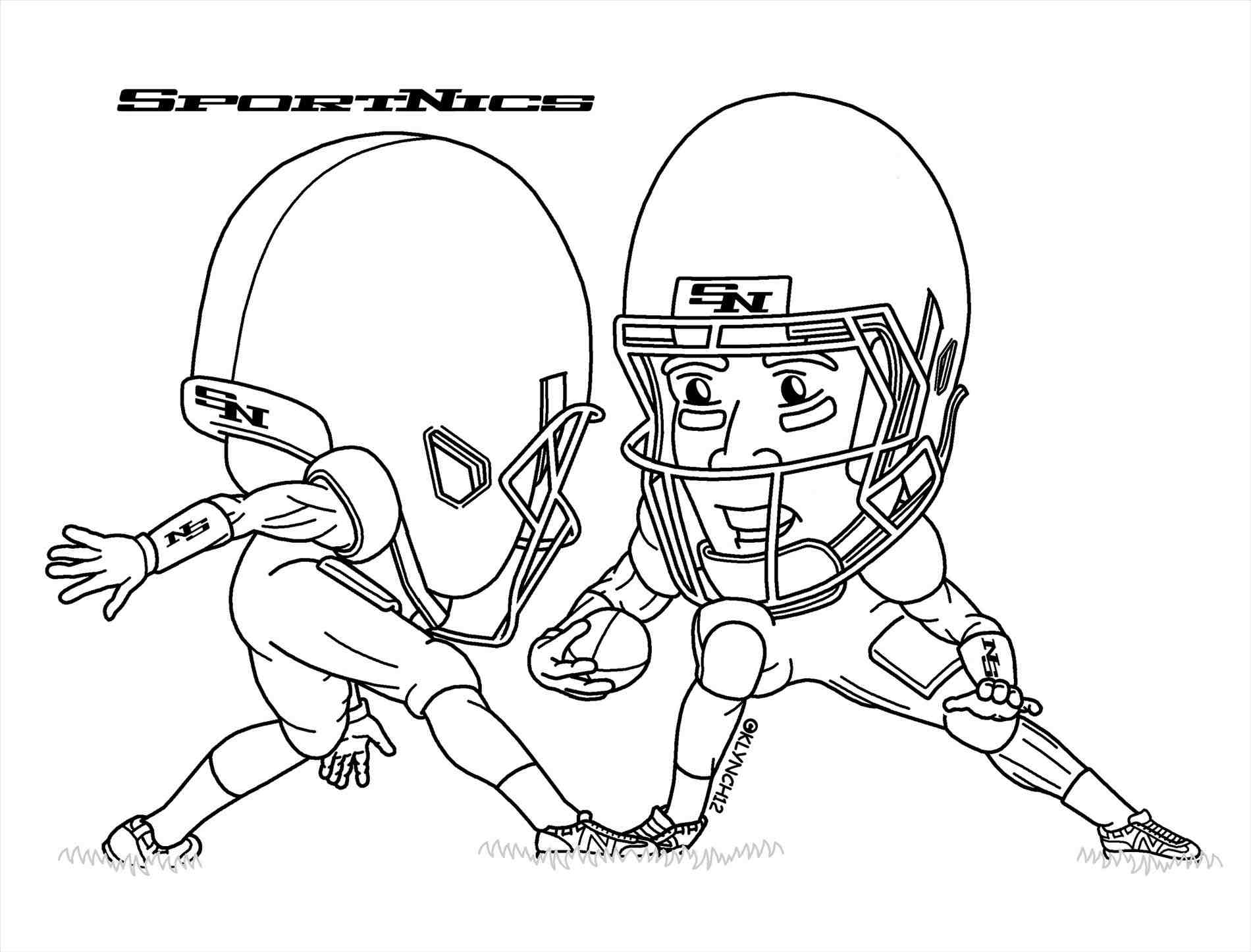 1900x1447 Step 6. Drawing A Football Player How To Draw An American Football