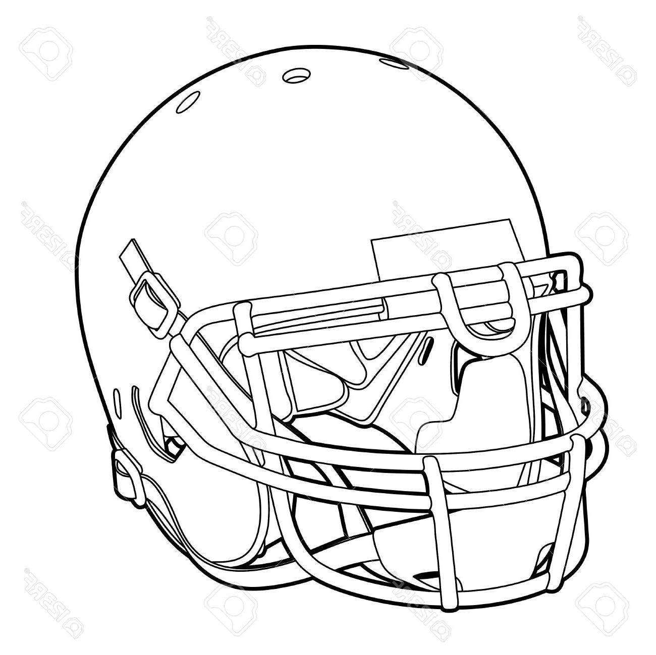 1300x1299 Best Hd American Football Helmet Outline Vector Illustration Stock