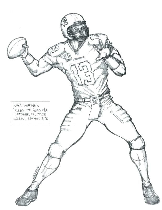 618x803 Coloring Pages Of Football Players Football Player Coloring Pages