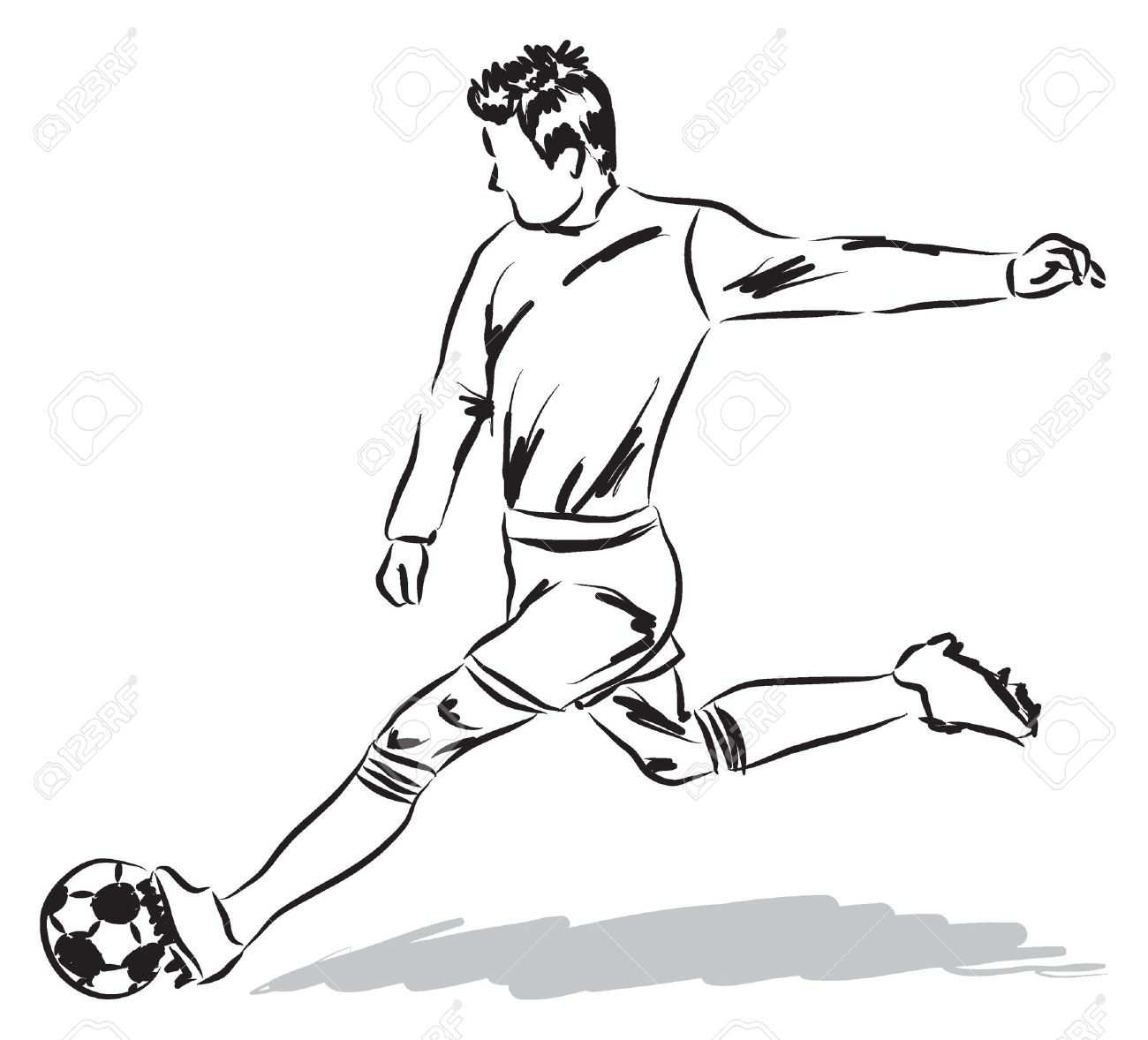 1300x1178 Drawings Of Soccer Players Free Football Software Erd In Dbms