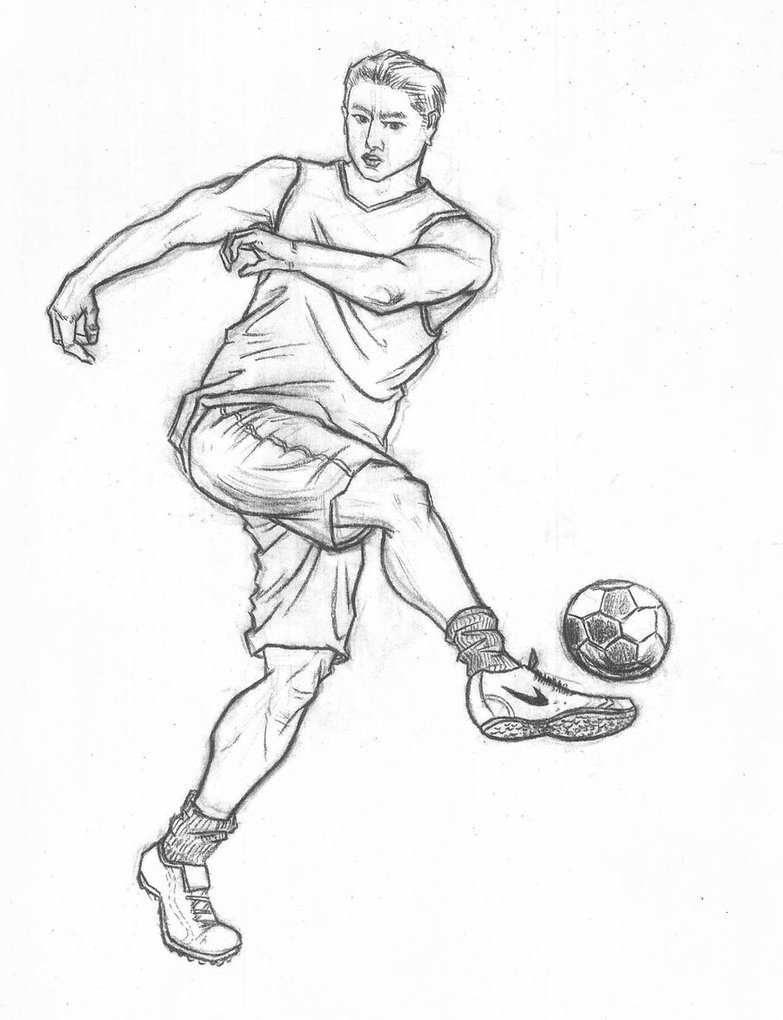 783x1020 Fast Sketch Of Sports Movements Football By Thb886