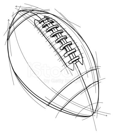371x439 Football Sketch Stock Vector
