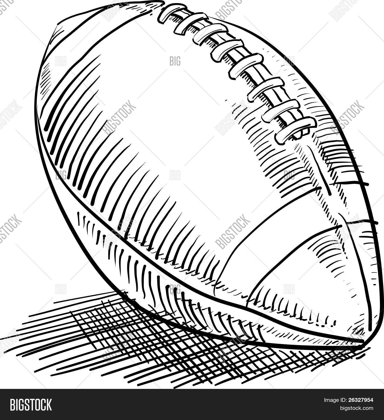 1480x1620 American Football Sketch Vector Amp Photo Bigstock