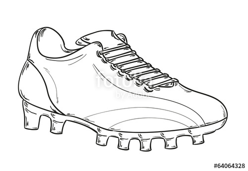 500x345 Football Boots Sketch Stock Image And Royalty Free Vector Files