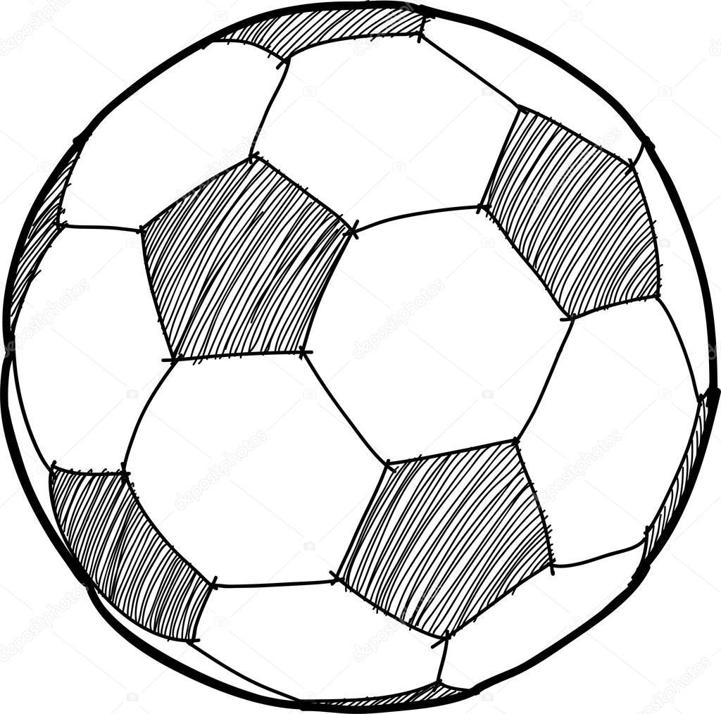 1024x1014 Drawing Of A Soccer Ball Hand Writing Soccer Ball ( Football