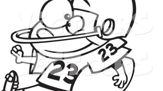 570x320 Football Cartoon Drawings Football Player Running Clipart Panda