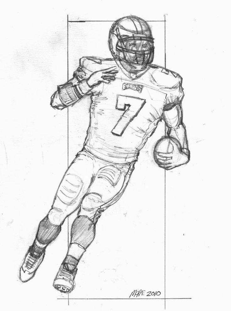 736x991 How To Draw A Football Player Inderecami Drawing