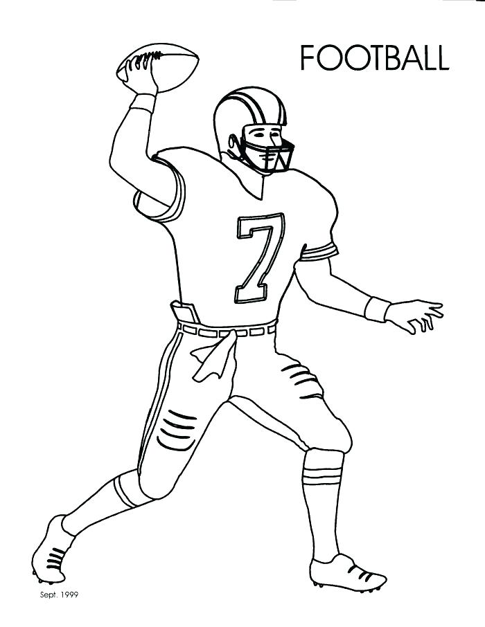 700x906 Coloring Pictures Of Football Players Football Player Coloring