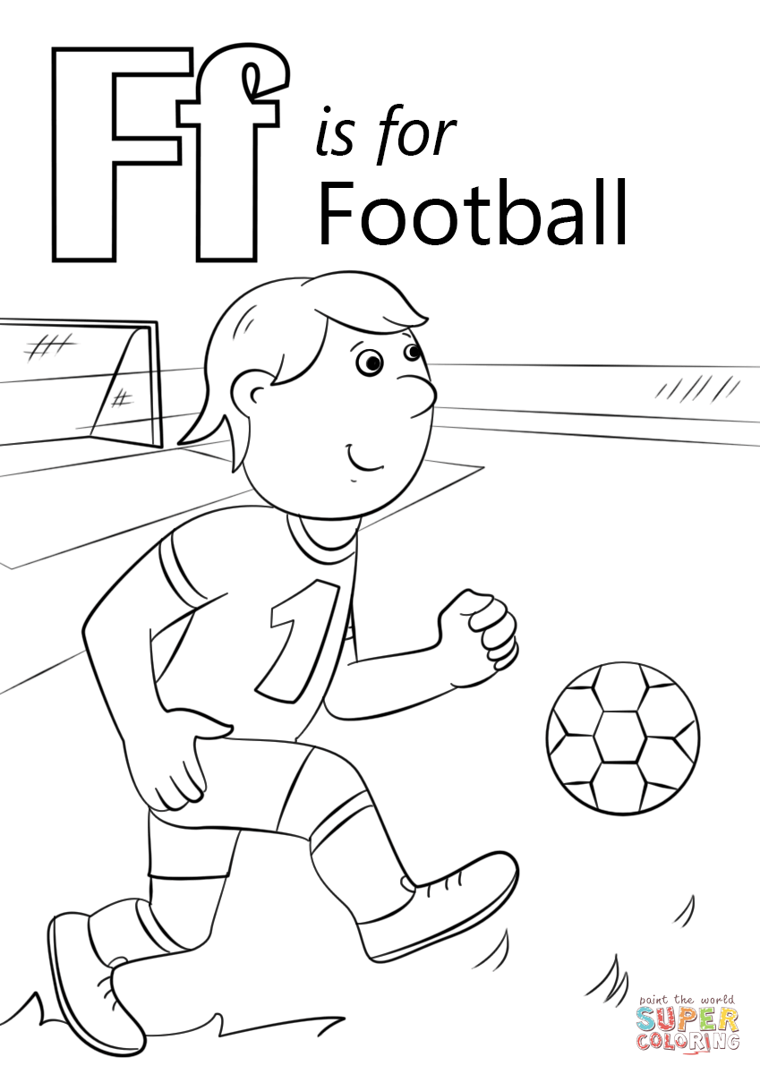 849x1200 Letter F Is For Football Coloring Page Free Printable Pages