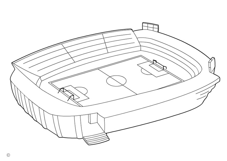 750x531 Football Field Coloring Page Coloring Stadium