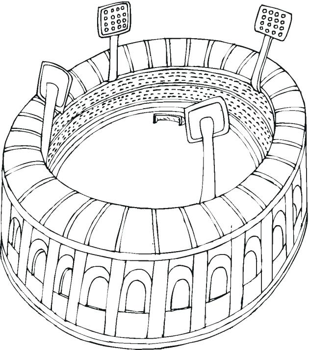 630x715 Football Field Coloring Page Football Field Coloring Pages