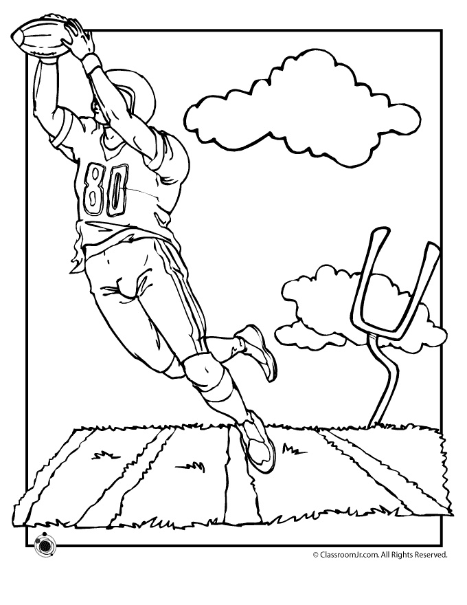 680x880 Football Coloring Pages