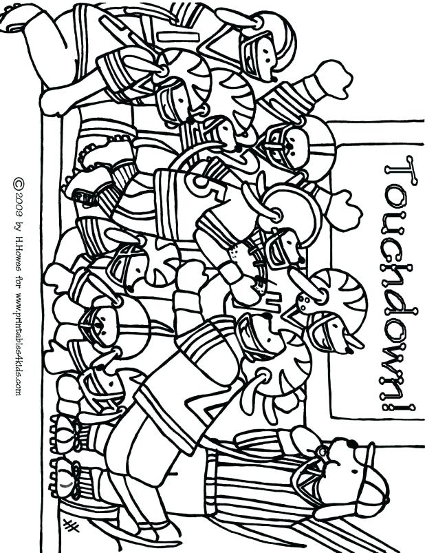 618x803 Football Coloring Pages Nfl Football Game Coloring Page For Kids