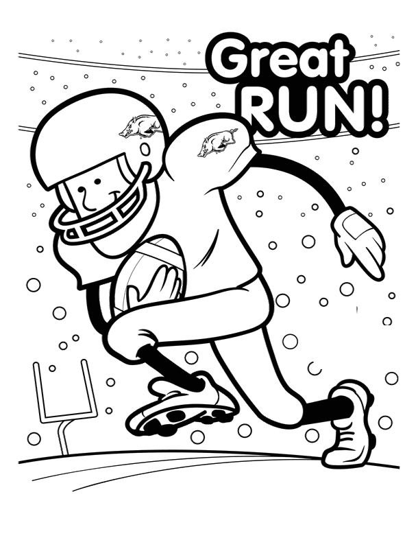 610x800 Football Great Run Coloring Pages Drawing