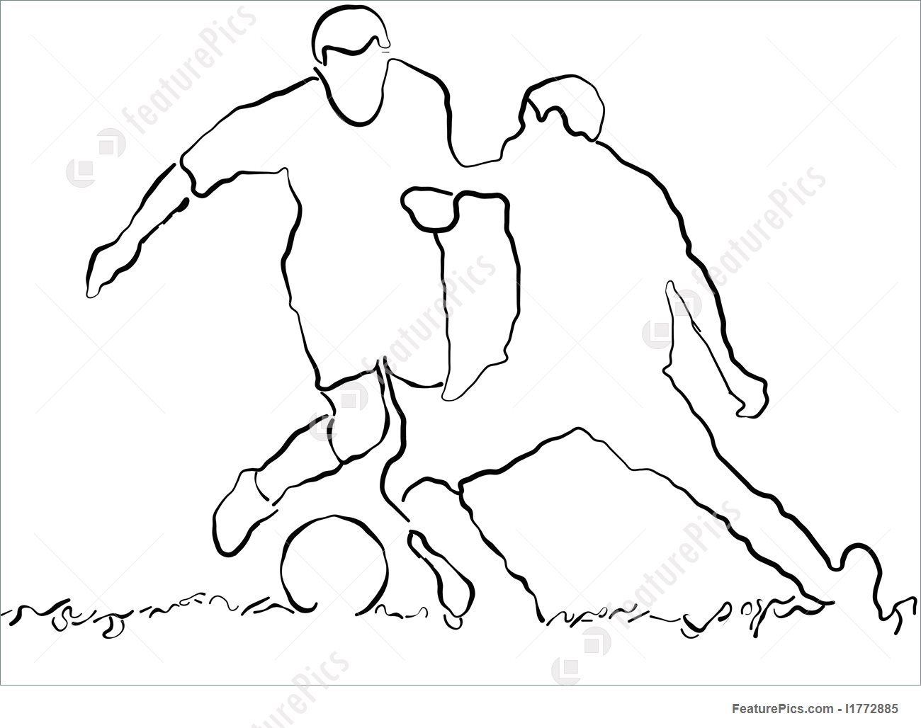 1300x1028 Games With Ball Soccer Sketch
