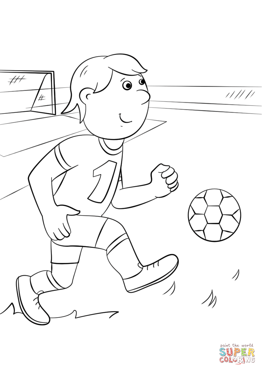 849x1200 Cartoon Football Player Coloring Page Free Printable Coloring Pages