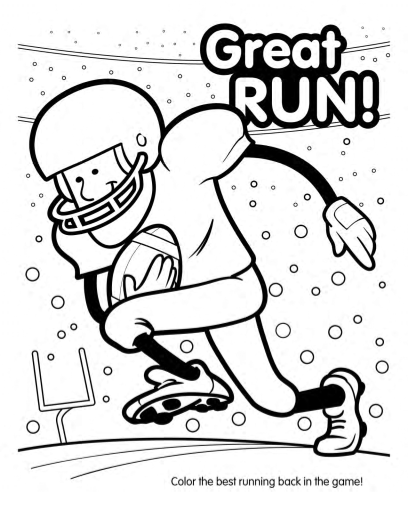 408x528 Super Bowl Football Coloring Book (10 Pages)