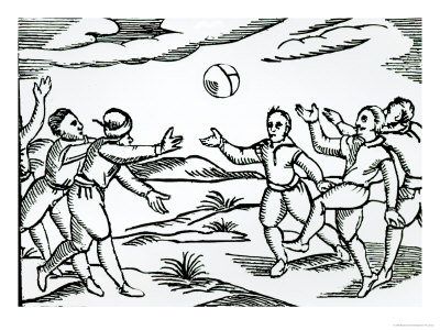 400x300 Tennis And Football Ball Games In Shakespeare's England
