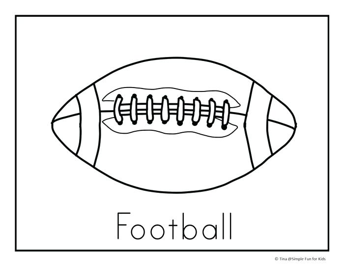 700x541 Coloring Pages Football Football Coloring Pages Preschool In Draw