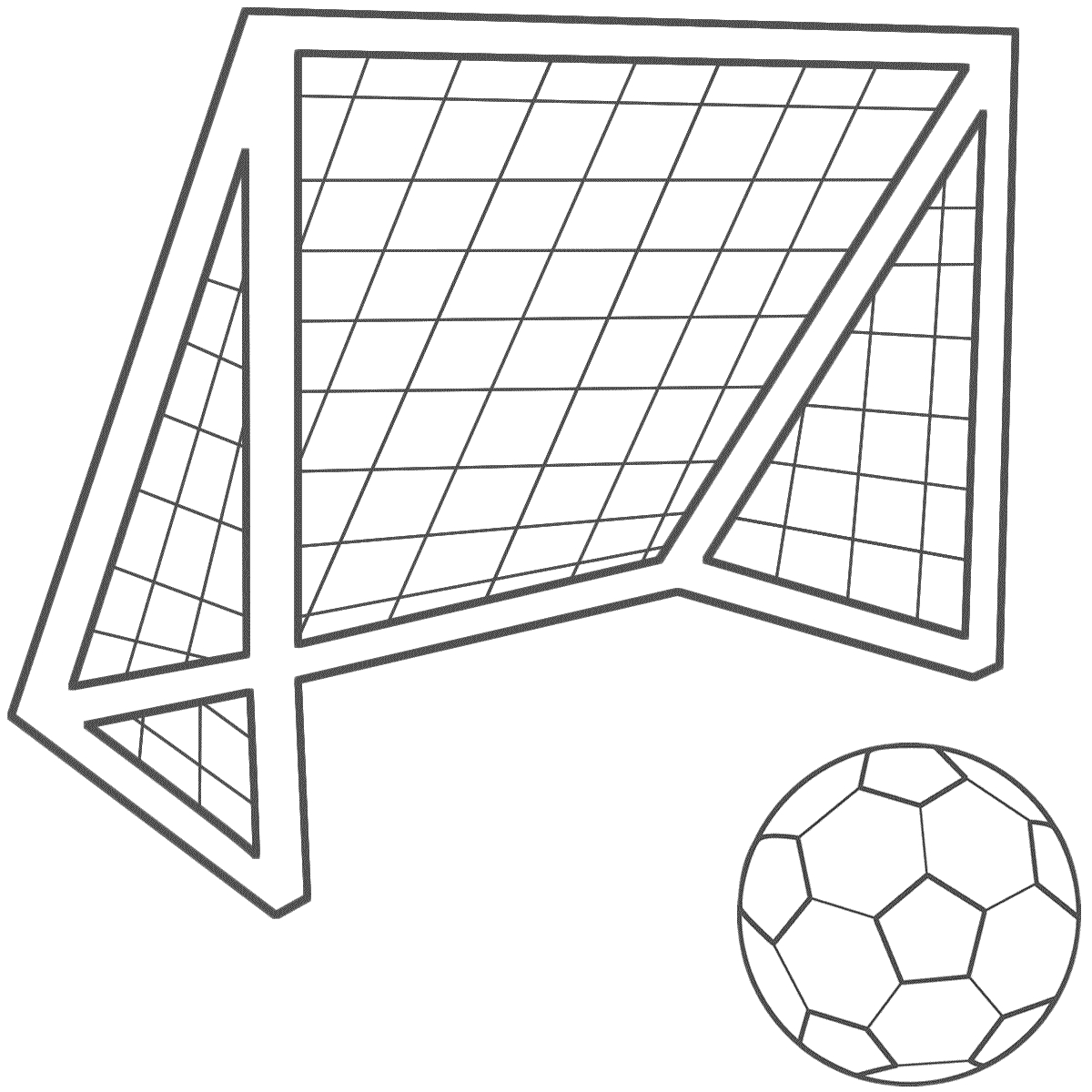 1200x1200 Drawing Of A Soccer Goal Ball Clipart Soccer Goal