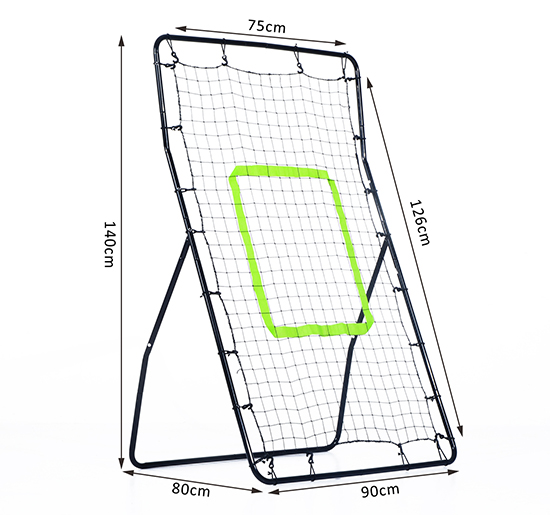 550x515 Rebounder Net Football Training Equipment Playback Game Angle Ball