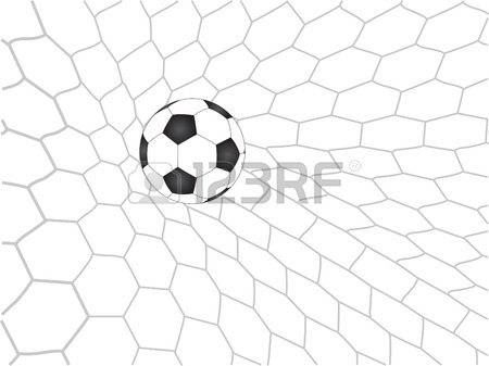 450x337 Soccer Football In Goal Net Royalty Free Cliparts, Vectors,