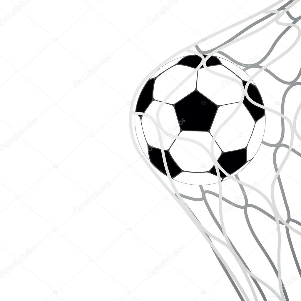 1024x1024 Soccer Ball In Goal Net Vector Stock Vector Makeitdouble