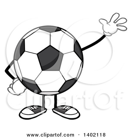 450x470 Clipart Illustration Of A Black And White Soccer Ballfootball