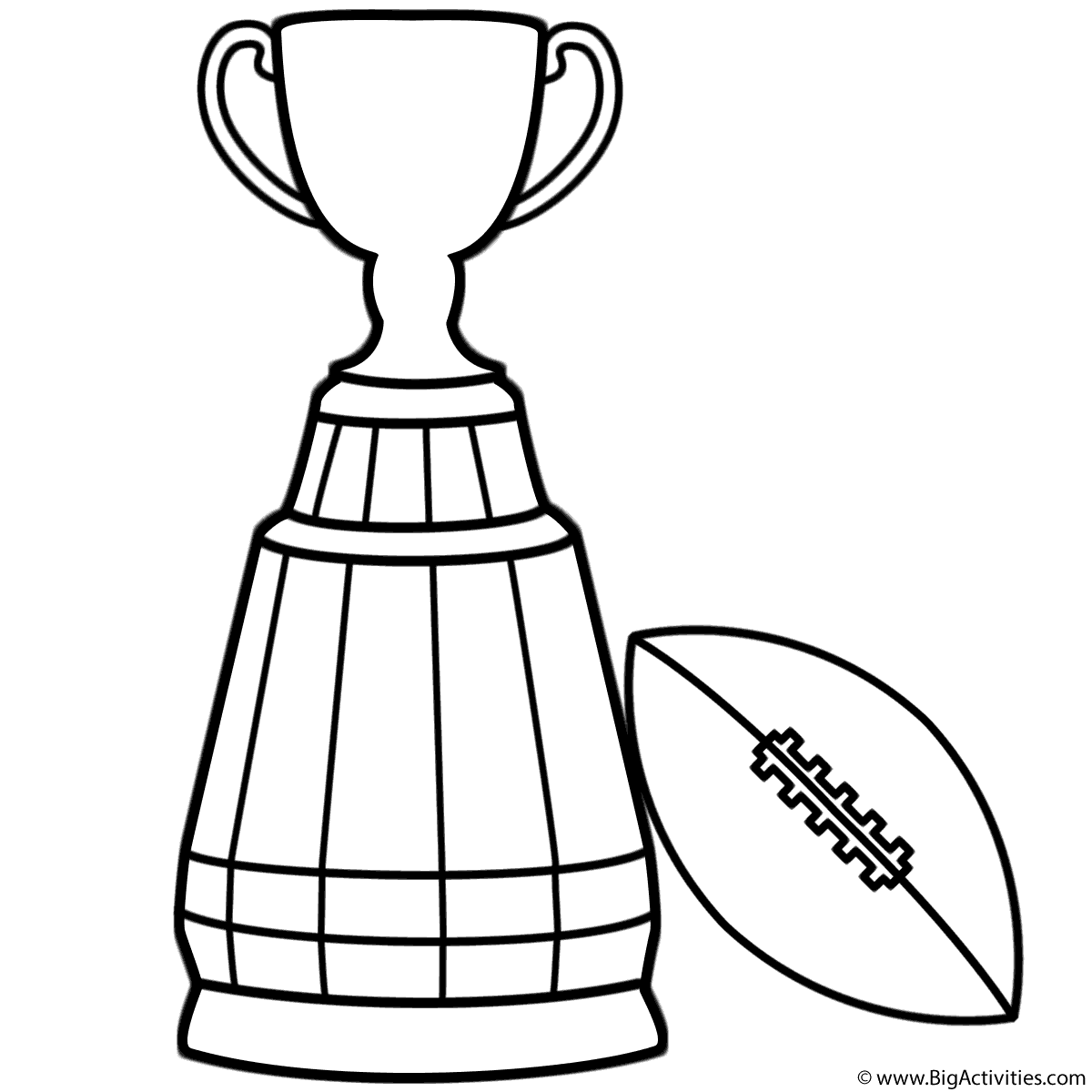 1200x1200 Grey Cup Trophy With Football