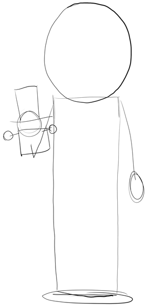 300x596 How To Draw Mr. Garrison From South Park In Easy Steps Drawing