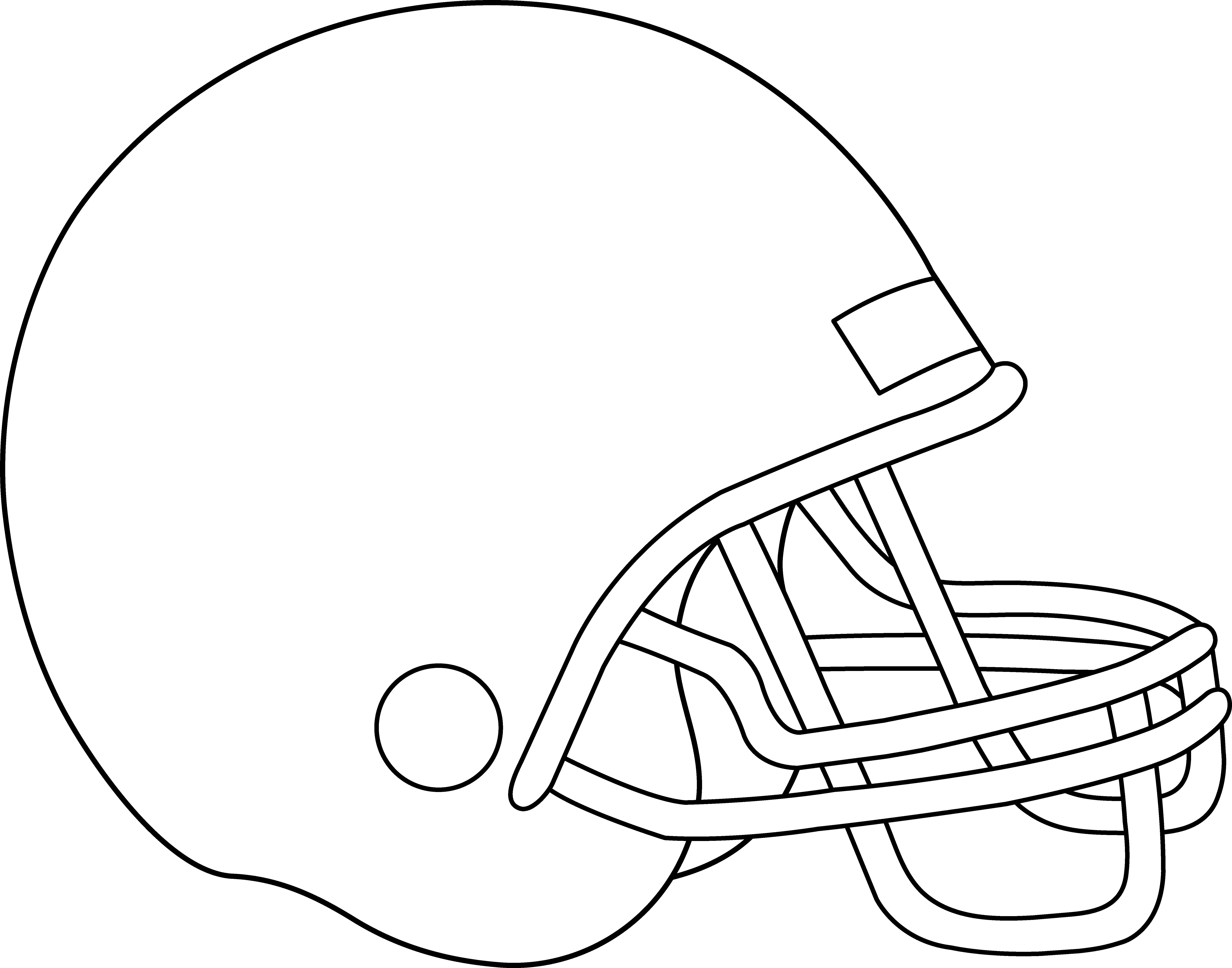 6835x5374 Blank Football Helmet For Coloring