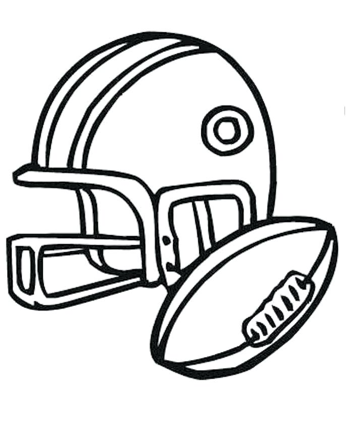 686x870 Football Printable Coloring Pages Football Helmet For Games