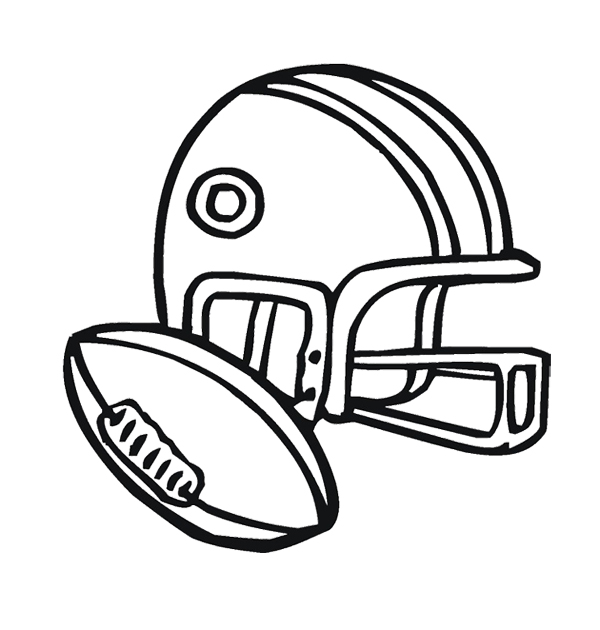 600x630 Blank Football Helmet Coloring Page Free Download