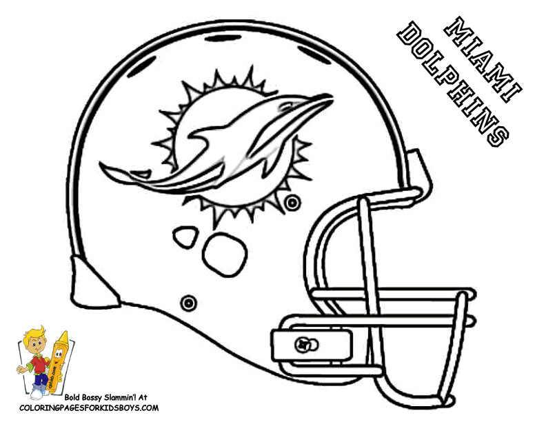 Football helmets drawing at free for for Miami dolphin logo coloring pages