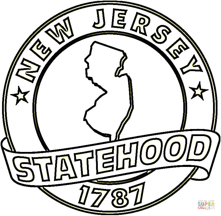 750x735 New Jersey State Coloring Page Free Printable Pages