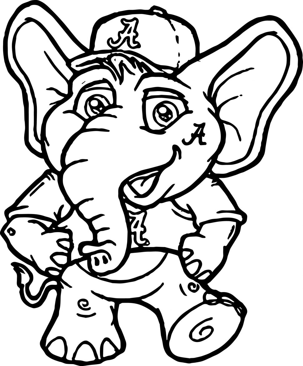 970x1173 Coloring Pages Football Coloring Pages Alabama Mascot Football