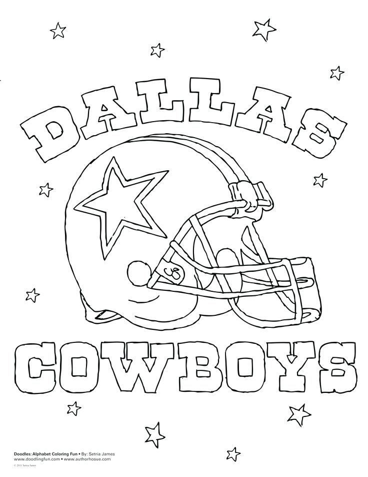 736x953 Football Coloring Pages For Kids Printable Fascinating Cowboys