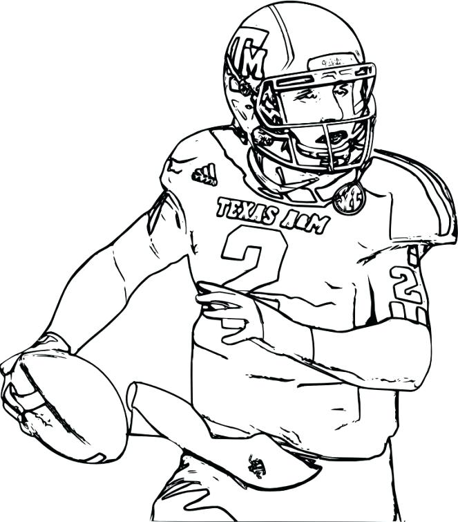 663x755 Football Player Coloring Page Mesmerizing Football Player Coloring