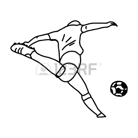 450x450 Football Soccer Player In Action