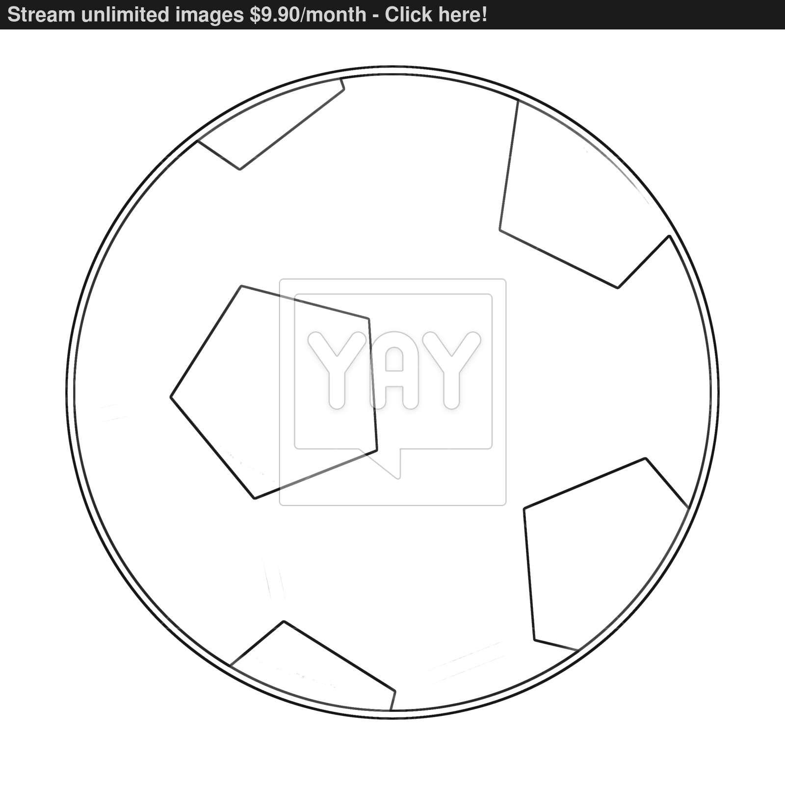1600x1600 Illustration Coloring Book Series Sport Ball Football. Soccer