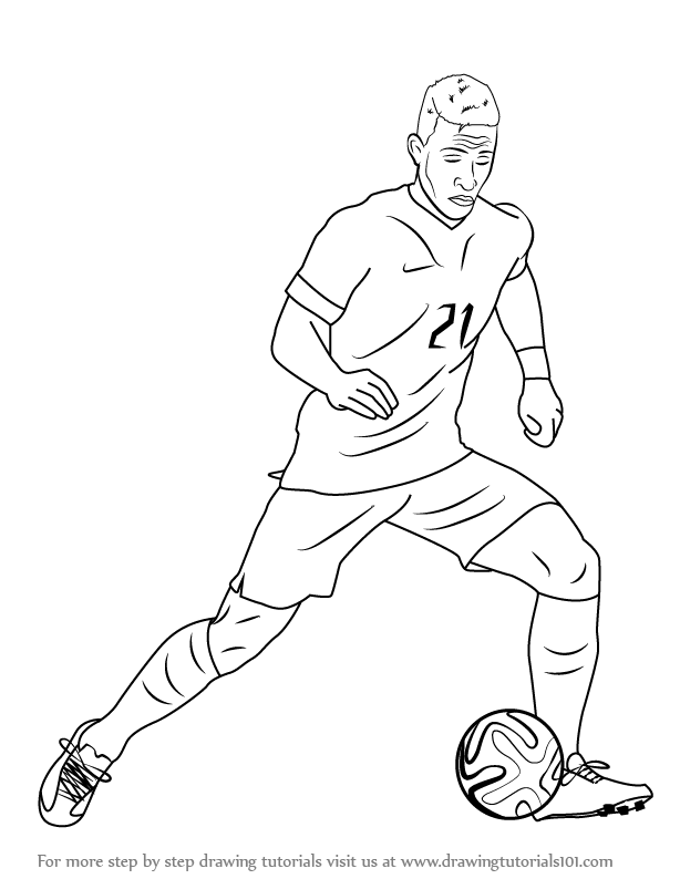 614x794 Learn How To Draw Memphis Depay (Footballers) Step By Step