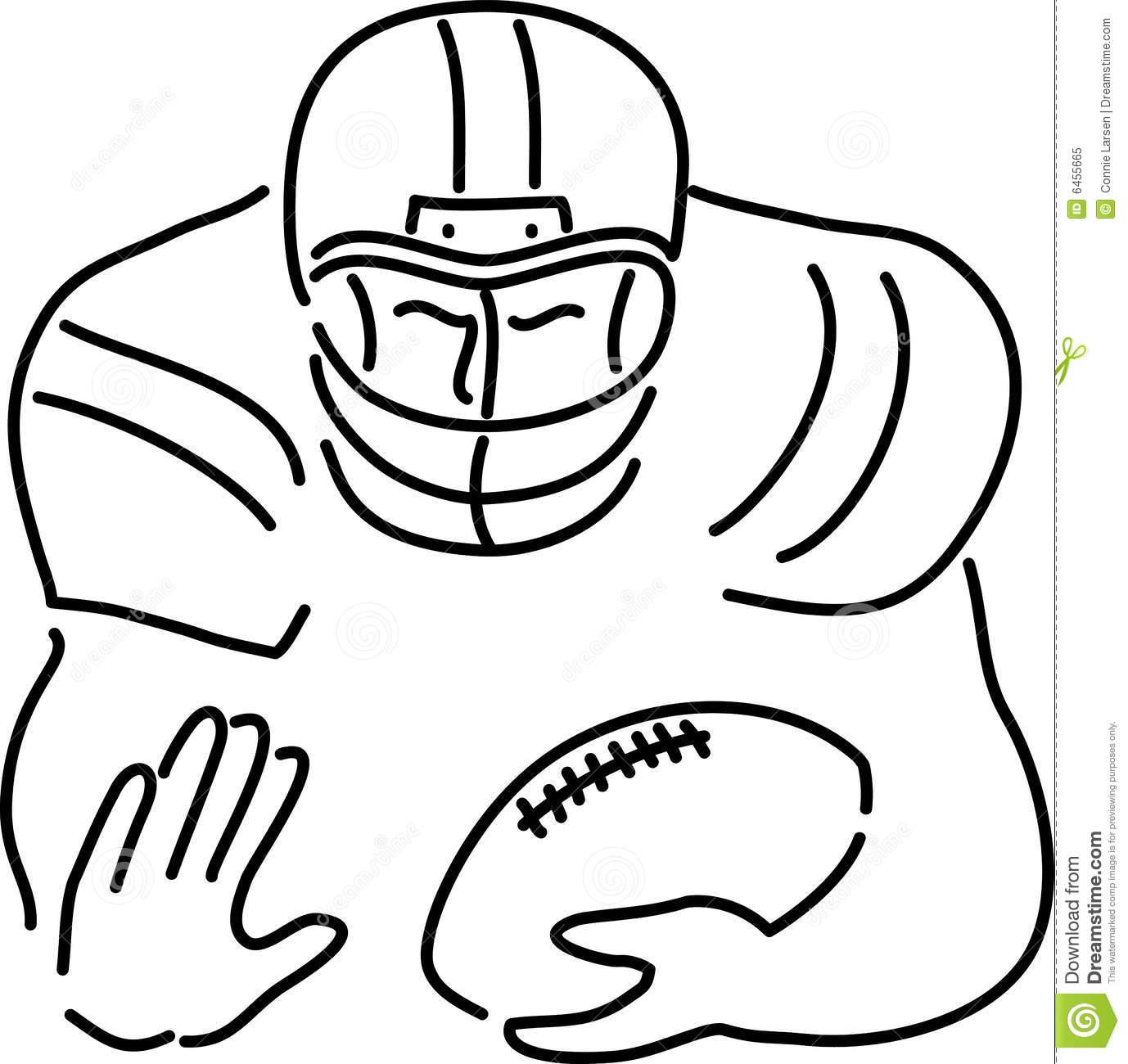 1378x1300 Printable Football Player Line Drawing