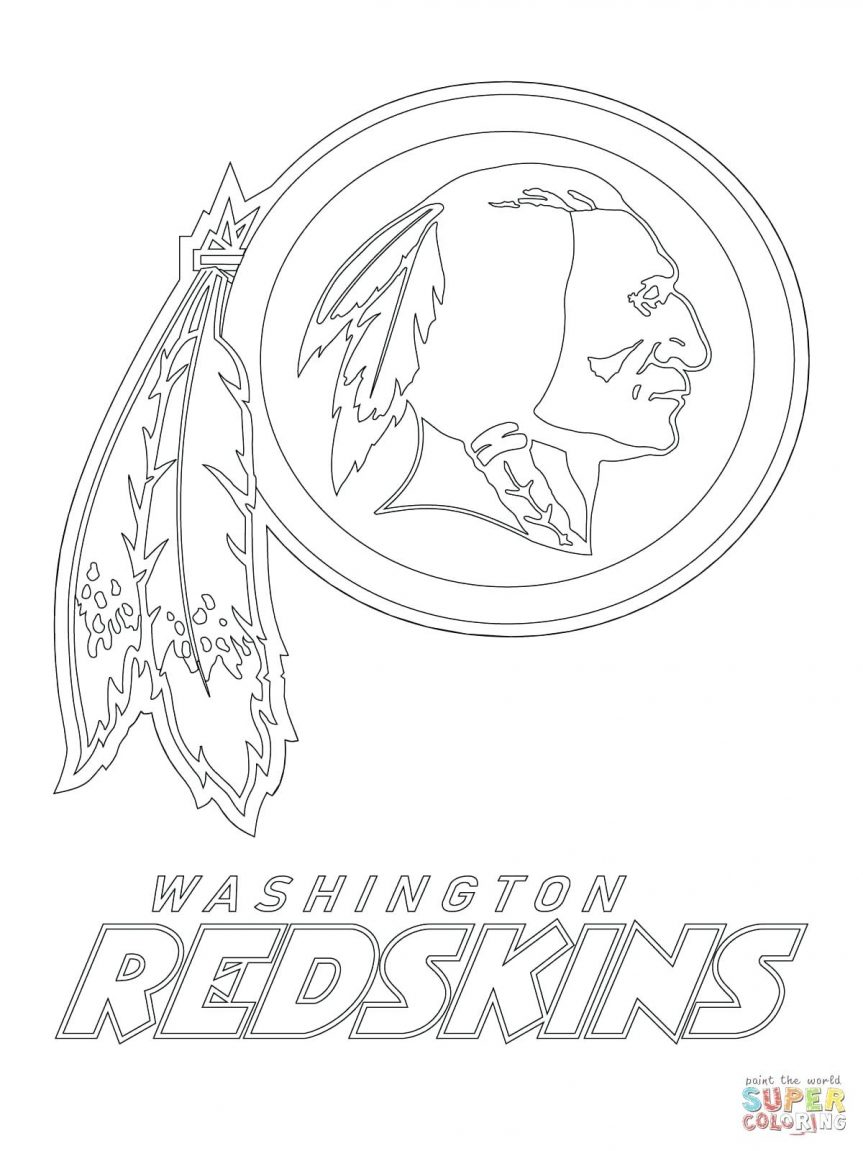 863x1151 Redskins Logo Coloring Page Free Printable Pages Nfl Teams Sheets